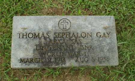 GAY (VETERAN WWII), THOMAS SEPHALON - Craighead County, Arkansas | THOMAS SEPHALON GAY (VETERAN WWII) - Arkansas Gravestone Photos