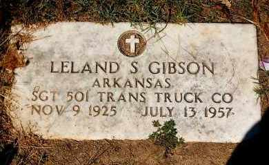 GIBSON (VETERAN), LELAND S - Craighead County, Arkansas | LELAND S GIBSON (VETERAN) - Arkansas Gravestone Photos