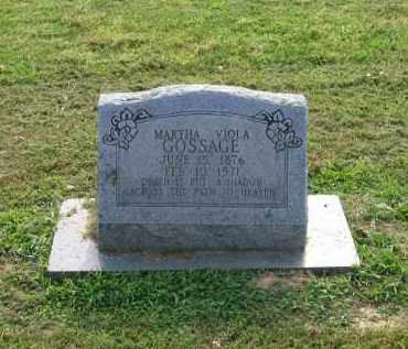 PRIDDY GOSSAGE, MARTHA VIOLA - Craighead County, Arkansas | MARTHA VIOLA PRIDDY GOSSAGE - Arkansas Gravestone Photos