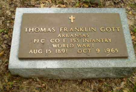 GOTT  (VETERAN WWI), THOMAS FRANKIN - Craighead County, Arkansas | THOMAS FRANKIN GOTT  (VETERAN WWI) - Arkansas Gravestone Photos