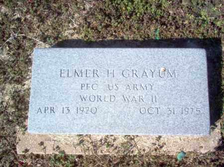 GRAYUM (VETERAN WWII), ELMER HARRELL - Craighead County, Arkansas | ELMER HARRELL GRAYUM (VETERAN WWII) - Arkansas Gravestone Photos