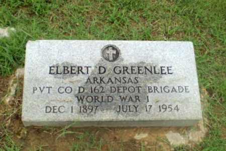 GREENLEE  (VETERAN WWI), ELBERT D - Craighead County, Arkansas | ELBERT D GREENLEE  (VETERAN WWI) - Arkansas Gravestone Photos