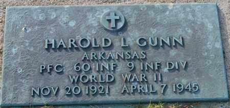 GUNN  (VETERAN WWII), HAROLD L - Craighead County, Arkansas | HAROLD L GUNN  (VETERAN WWII) - Arkansas Gravestone Photos