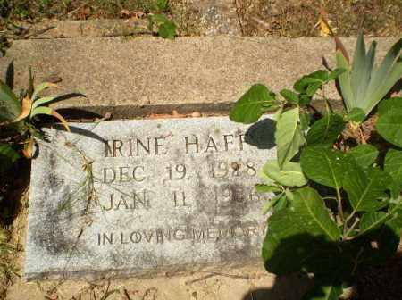 HAFF, IRINE - Craighead County, Arkansas | IRINE HAFF - Arkansas Gravestone Photos