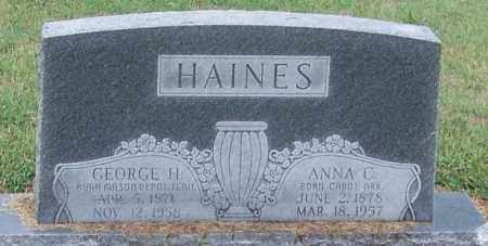 HAINES, GEORGE H. - Craighead County, Arkansas | GEORGE H. HAINES - Arkansas Gravestone Photos