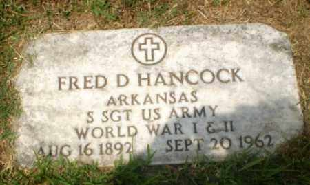 HANCOCK  (VETERAN 2 WARS), FRED D - Craighead County, Arkansas | FRED D HANCOCK  (VETERAN 2 WARS) - Arkansas Gravestone Photos
