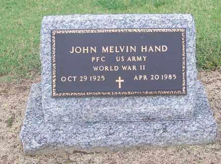 HAND  (VETERAN WWII), JOHN MELVIN - Craighead County, Arkansas | JOHN MELVIN HAND  (VETERAN WWII) - Arkansas Gravestone Photos