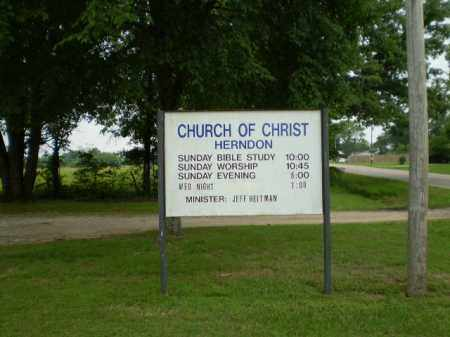 *HERNDON CHURCH SIGN,  - Craighead County, Arkansas |  *HERNDON CHURCH SIGN - Arkansas Gravestone Photos
