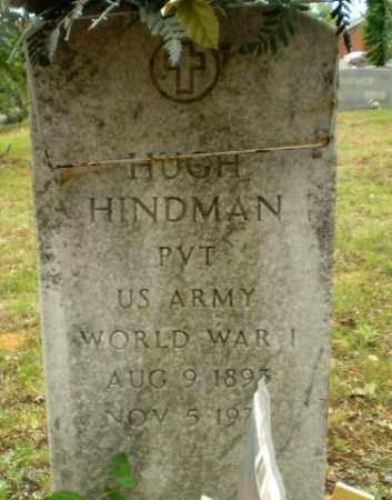 HINDMAN  (VETERAN WWI), HUGH - Craighead County, Arkansas   HUGH HINDMAN  (VETERAN WWI) - Arkansas Gravestone Photos
