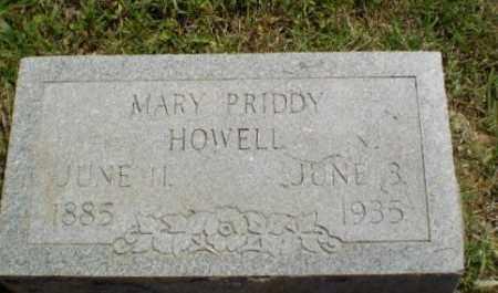 HOWELL, MARY PRIDDY - Craighead County, Arkansas | MARY PRIDDY HOWELL - Arkansas Gravestone Photos