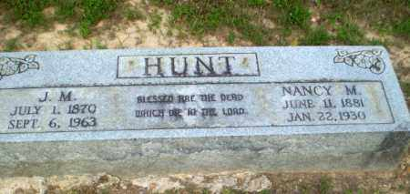 HUNT, J.M. - Craighead County, Arkansas | J.M. HUNT - Arkansas Gravestone Photos
