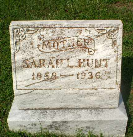 HUNT, SARAH L - Craighead County, Arkansas | SARAH L HUNT - Arkansas Gravestone Photos