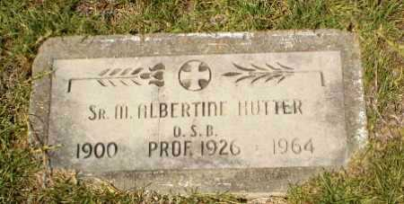 HUTTER, SISTER M. ALBERTINE - Craighead County, Arkansas | SISTER M. ALBERTINE HUTTER - Arkansas Gravestone Photos