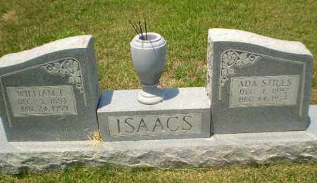 STILES ISAACS, ADA - Craighead County, Arkansas | ADA STILES ISAACS - Arkansas Gravestone Photos