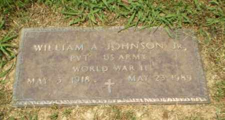JOHNSON  (VETERAN WWII), WILLIAM A - Craighead County, Arkansas | WILLIAM A JOHNSON  (VETERAN WWII) - Arkansas Gravestone Photos