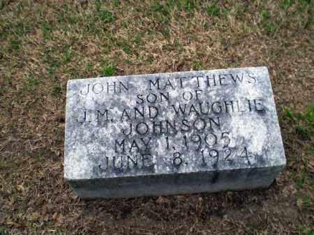 JOHNSON, JOHN MATTHEWS - Craighead County, Arkansas | JOHN MATTHEWS JOHNSON - Arkansas Gravestone Photos