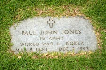 JONES  (VETERAN 2 WARS), PAUL JOHN - Craighead County, Arkansas | PAUL JOHN JONES  (VETERAN 2 WARS) - Arkansas Gravestone Photos