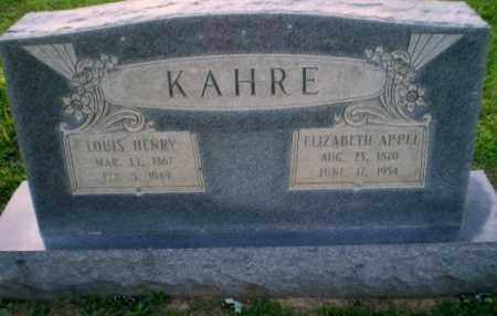 KAHRE, ELIZABETH APPEL - Craighead County, Arkansas | ELIZABETH APPEL KAHRE - Arkansas Gravestone Photos