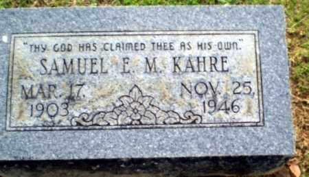 KAHRE, SAMUEL - Craighead County, Arkansas | SAMUEL KAHRE - Arkansas Gravestone Photos