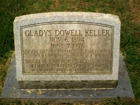 DOWELL KELLER, GLADYS - Craighead County, Arkansas | GLADYS DOWELL KELLER - Arkansas Gravestone Photos
