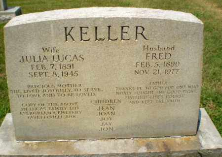 LUCAS KELLER, JULIA - Craighead County, Arkansas | JULIA LUCAS KELLER - Arkansas Gravestone Photos