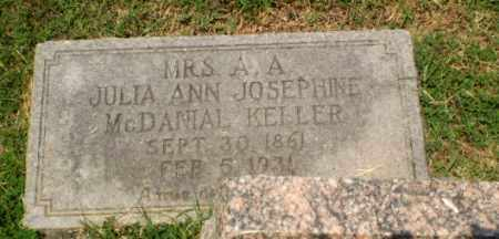 MCDANIAL KELLER, JULIA ANN JOSEPHINE - Craighead County, Arkansas | JULIA ANN JOSEPHINE MCDANIAL KELLER - Arkansas Gravestone Photos