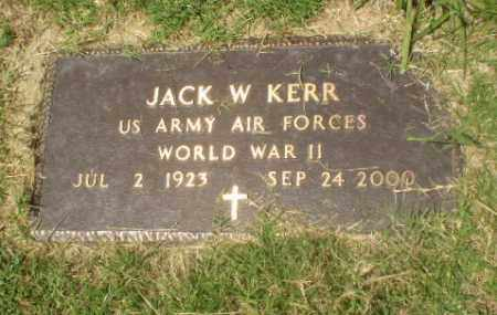 KERR  (VETERAN WWII), JACK W - Craighead County, Arkansas | JACK W KERR  (VETERAN WWII) - Arkansas Gravestone Photos