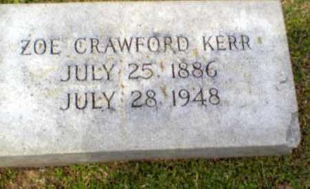 CRAWFORD KERR, ZOE - Craighead County, Arkansas | ZOE CRAWFORD KERR - Arkansas Gravestone Photos