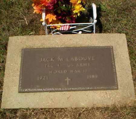 LABOUVE  (VETERAN WWII), JACK M - Craighead County, Arkansas | JACK M LABOUVE  (VETERAN WWII) - Arkansas Gravestone Photos