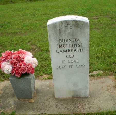 MULLINS LAMBERTH, BURNITA - Craighead County, Arkansas | BURNITA MULLINS LAMBERTH - Arkansas Gravestone Photos