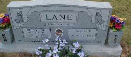 "LANE, A. J. ""BO"" - Craighead County, Arkansas 