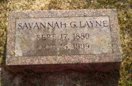 LAYNE, SAVANNAH G - Craighead County, Arkansas | SAVANNAH G LAYNE - Arkansas Gravestone Photos