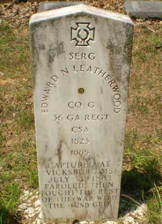 LEATHERWOOD (VETERAN CSA, POW), EDWARD N - Craighead County, Arkansas | EDWARD N LEATHERWOOD (VETERAN CSA, POW) - Arkansas Gravestone Photos