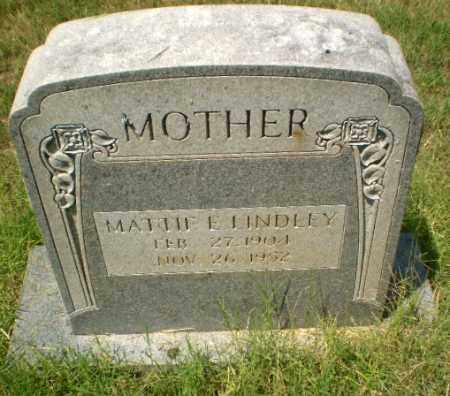 LINDLEY, MATTIE E - Craighead County, Arkansas | MATTIE E LINDLEY - Arkansas Gravestone Photos
