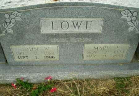 LOWE, JOHN W - Craighead County, Arkansas | JOHN W LOWE - Arkansas Gravestone Photos