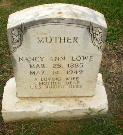 LOWE, NANCY ANN - Craighead County, Arkansas | NANCY ANN LOWE - Arkansas Gravestone Photos