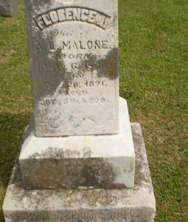 MALONE, FLORENCE A - Craighead County, Arkansas | FLORENCE A MALONE - Arkansas Gravestone Photos