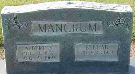 MANGRUM, ALBERT J - Craighead County, Arkansas | ALBERT J MANGRUM - Arkansas Gravestone Photos