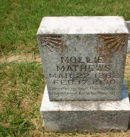 MATHEWS, MOLLIE - Craighead County, Arkansas | MOLLIE MATHEWS - Arkansas Gravestone Photos