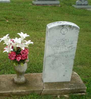 MATTHEWS  (VETERAN WWII), HENRY LEE - Craighead County, Arkansas | HENRY LEE MATTHEWS  (VETERAN WWII) - Arkansas Gravestone Photos
