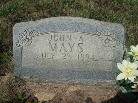MAYS, JOHN A. - Craighead County, Arkansas | JOHN A. MAYS - Arkansas Gravestone Photos