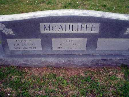 MCAULIFFE, FRONEY - Craighead County, Arkansas | FRONEY MCAULIFFE - Arkansas Gravestone Photos