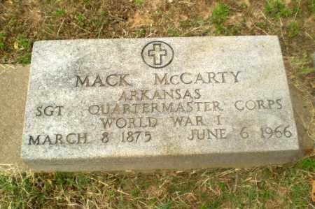 MCCARTY  (VETERAN WWI), MACK - Craighead County, Arkansas | MACK MCCARTY  (VETERAN WWI) - Arkansas Gravestone Photos