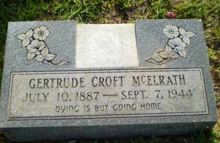 CROFT MCELRATH, GERTRUDE - Craighead County, Arkansas | GERTRUDE CROFT MCELRATH - Arkansas Gravestone Photos