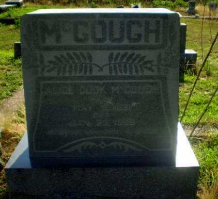 COOK MCGOUGH, ALICE - Craighead County, Arkansas | ALICE COOK MCGOUGH - Arkansas Gravestone Photos