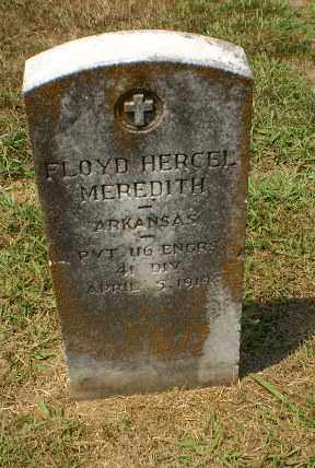 MEREDITH  (VETERAN), FLOYD HERCEL - Craighead County, Arkansas | FLOYD HERCEL MEREDITH  (VETERAN) - Arkansas Gravestone Photos