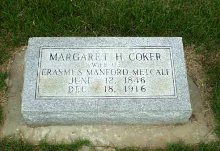 COKER METCALF, MARGARET H - Craighead County, Arkansas | MARGARET H COKER METCALF - Arkansas Gravestone Photos