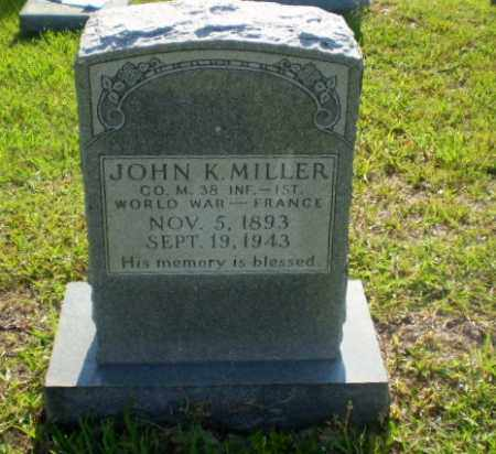 MILLER  (VETERAN WWI), JOHN K - Craighead County, Arkansas | JOHN K MILLER  (VETERAN WWI) - Arkansas Gravestone Photos