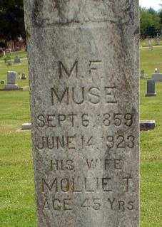MUSE, M F - Craighead County, Arkansas | M F MUSE - Arkansas Gravestone Photos