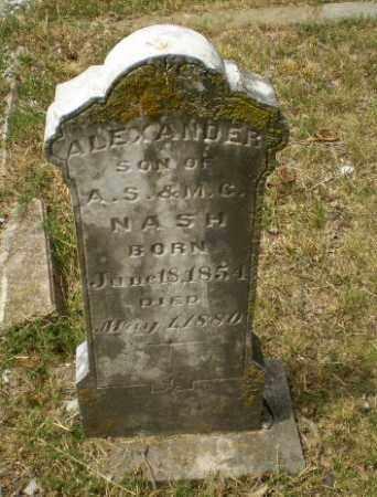 NASH, ALEXANDER - Craighead County, Arkansas | ALEXANDER NASH - Arkansas Gravestone Photos